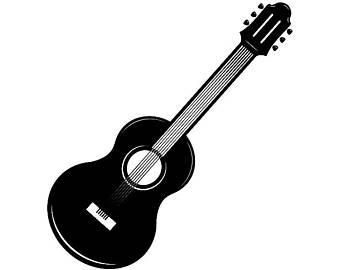 340x270 Acoustic Guitar Svg Etsy