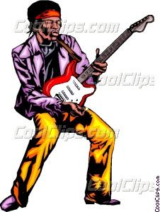 226x300 Guitar Player Vector Clip Art