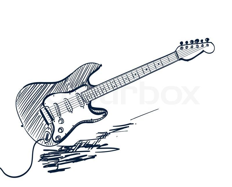 800x645 Guitar Silhouette Clip Art