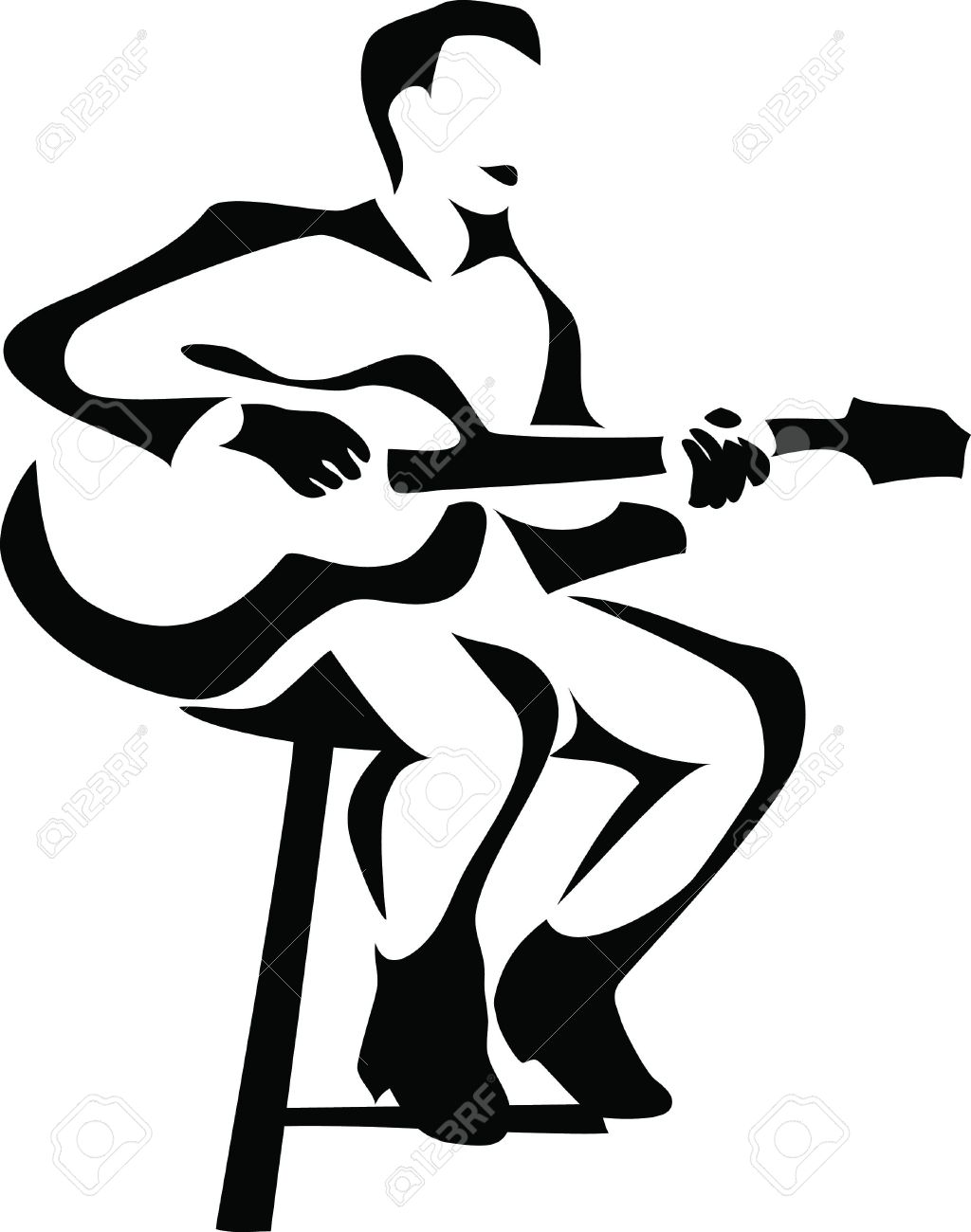 1024x1300 Musician Clipart Play Guitar