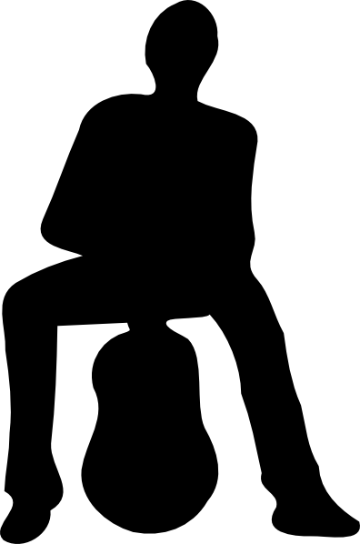 396x598 Silhouette Of Man And Guitar Clip Art