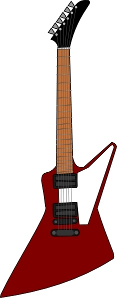 234x597 Gibson Explorer Guitar Clip Art Free Vector In Open Office Drawing