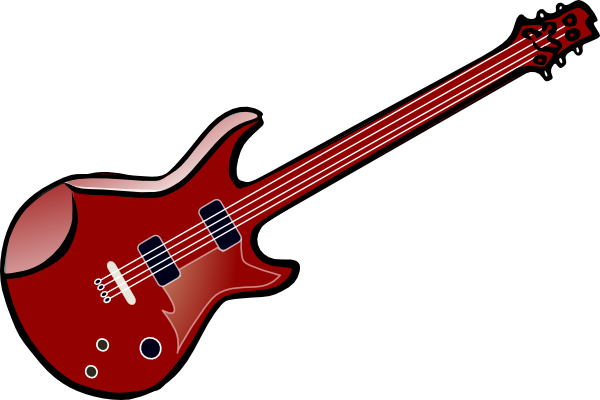 600x400 Guitar Vector Clip Art