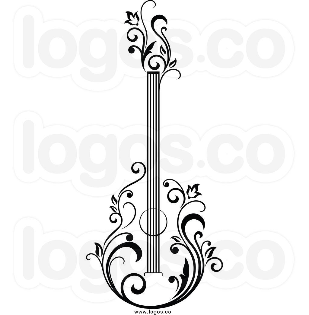 1024x1044 Guitar Clipart Floral