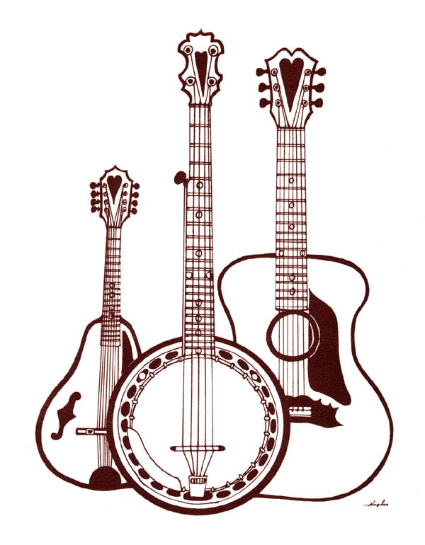 600x770 Instrument Clipart Country Guitar
