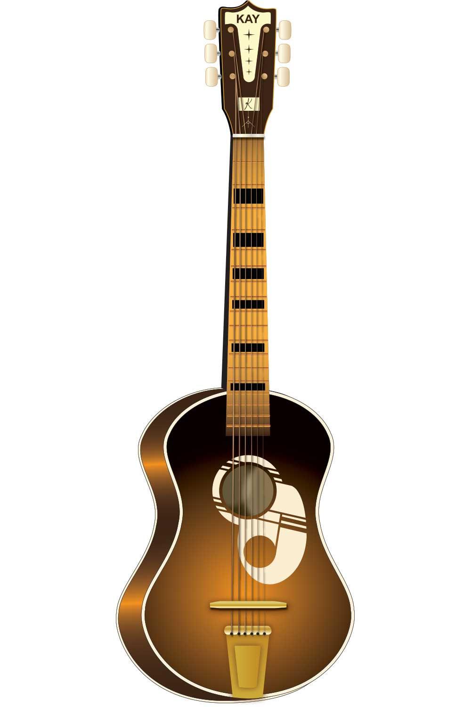 1000x1500 Vintage Guitar Clip Art