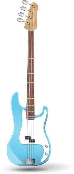 252x591 Bass Guitar Clip Art Free Vector 4vector