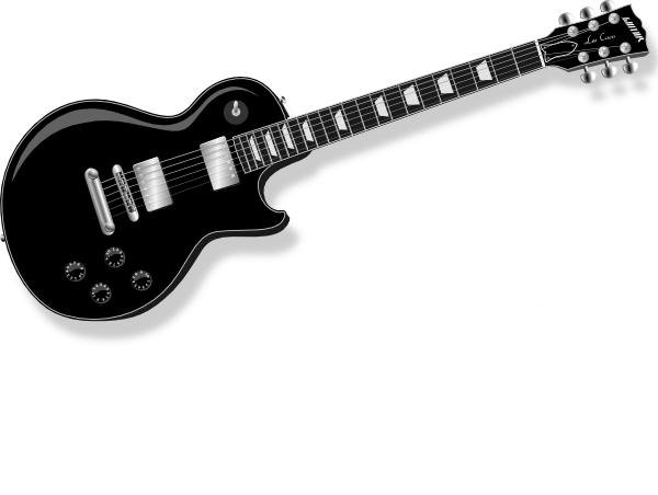600x452 Black Guitar clip art Free Vector 4Vector