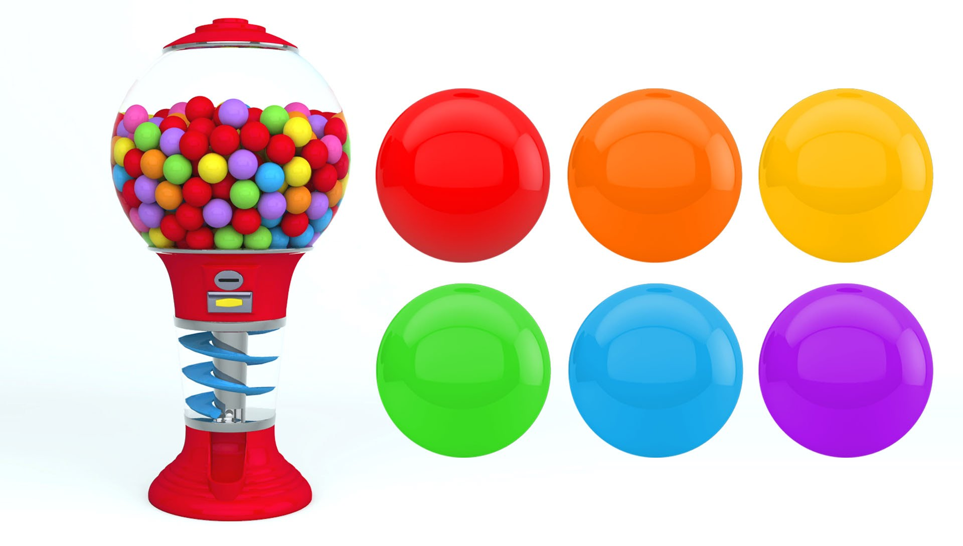 1920x1088 Colors For Children To Learn With Gumball Machine