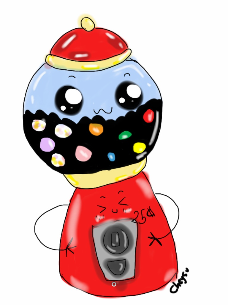 768x1024 Cute Gumball Machine. By Cheysu