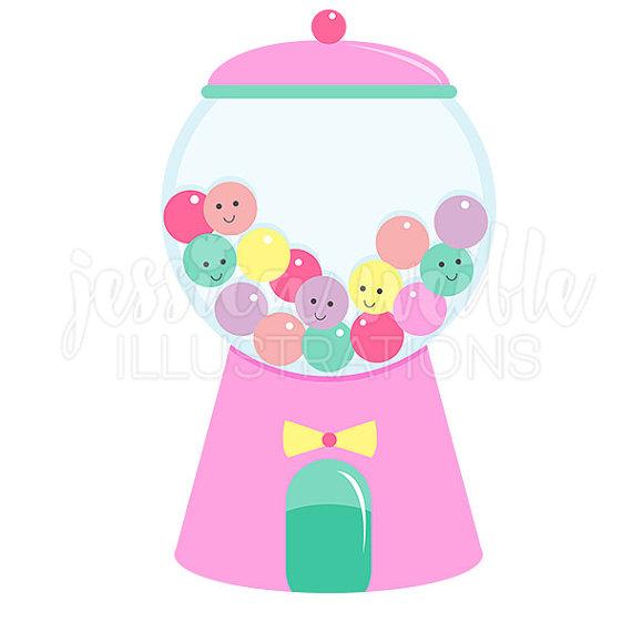 570x570 Girly Gumball Machine Cute Digital Clipart Gumball Clip Art