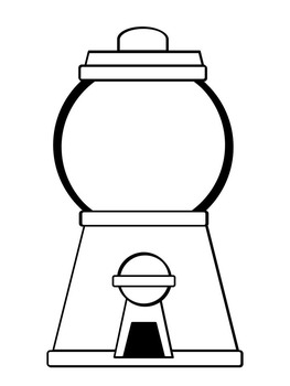 Nerdy image inside gumball machine printable