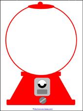 170x225 Gumball Machine Subitizing Printable