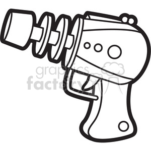 300x300 Royalty Free Toy Laser Gun Cartoon Vector Image Outline 397942