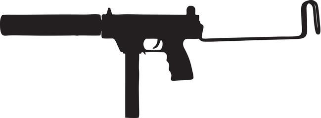 649x240 Machine Gun Clipart Line Art
