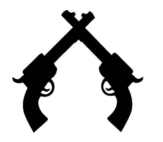 540x471 Pistol Silhouette Clipart 2212583