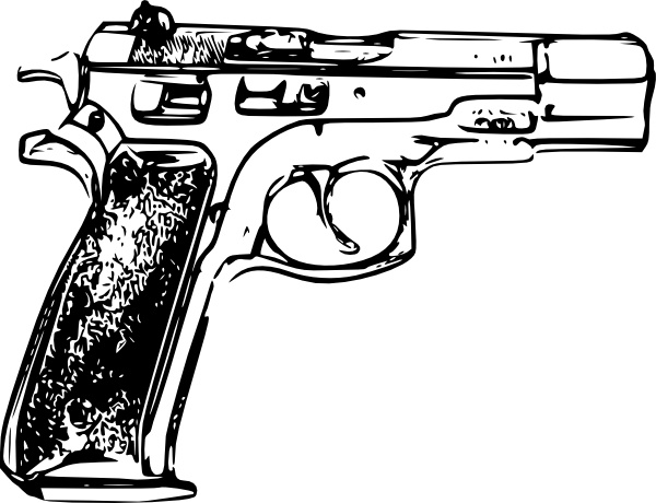 600x460 Police Gun Clip Art Free Vector In Open Office Drawing Svg ( Svg