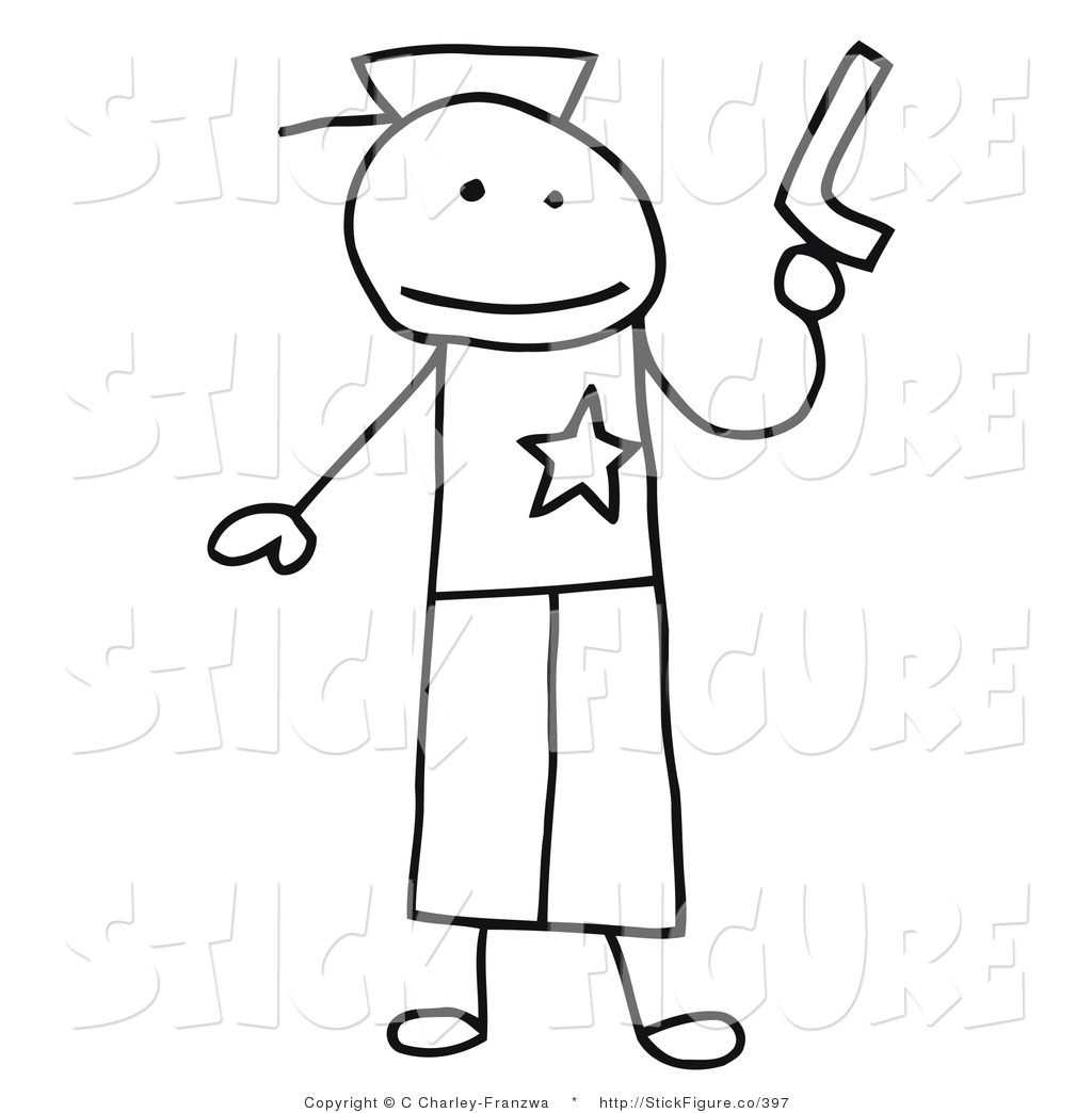 1024x1044 Cliprt Of Stick Figure Person Policeman Holding Gun, On