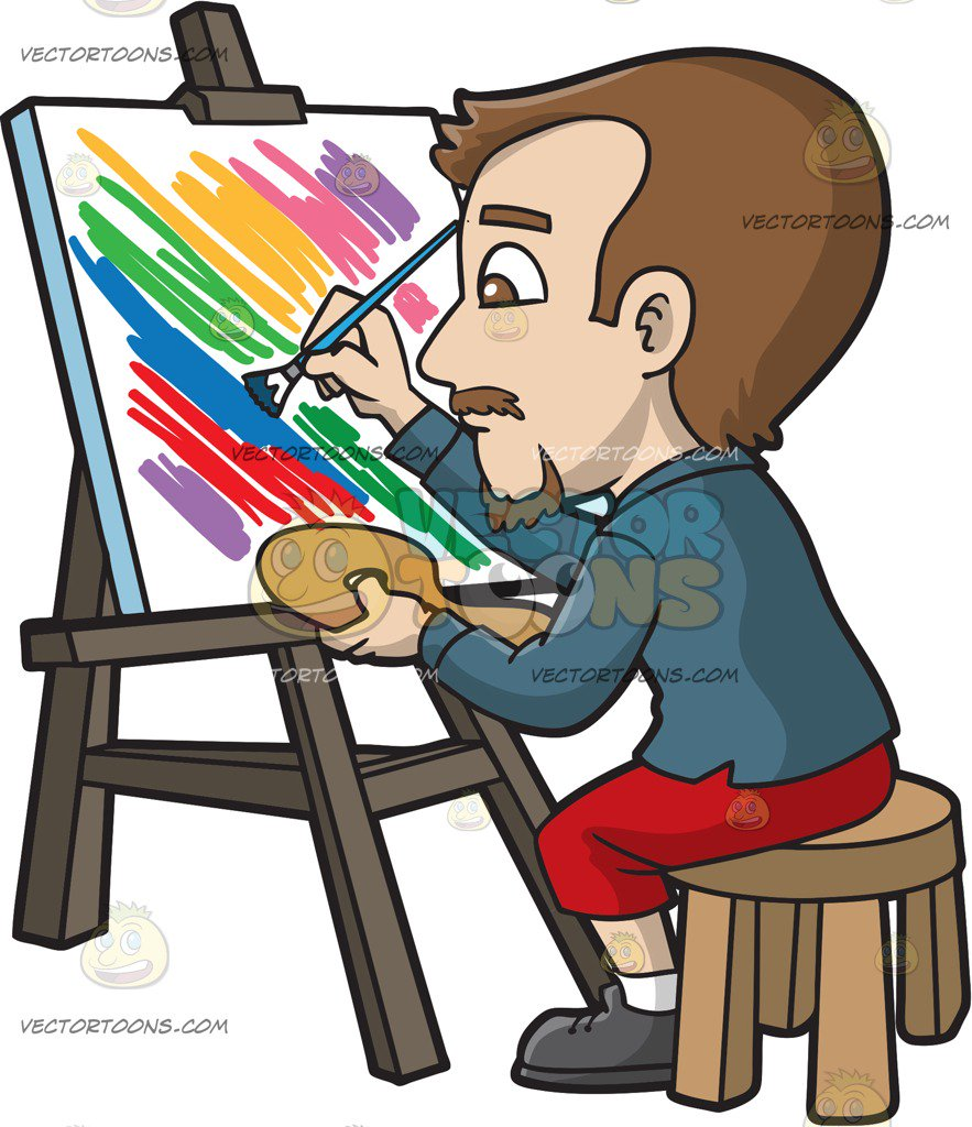883x1024 Artwork Clipart Person Painting