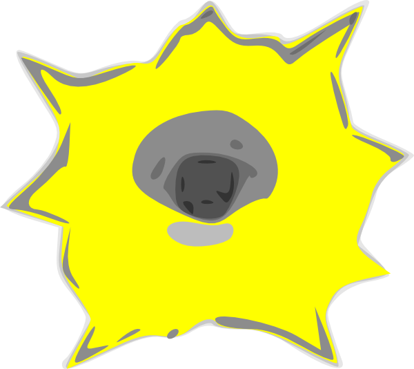600x534 Yellow Bullet Hole Clipart