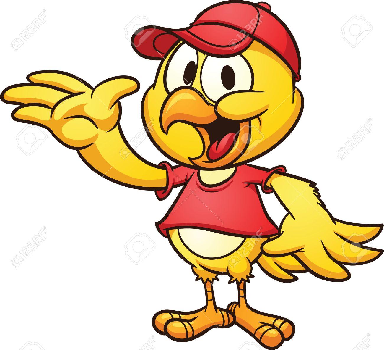 1300x1183 Clip Art Of A Cute Cartoon Chicken Wearing A Baseball Hat Vector
