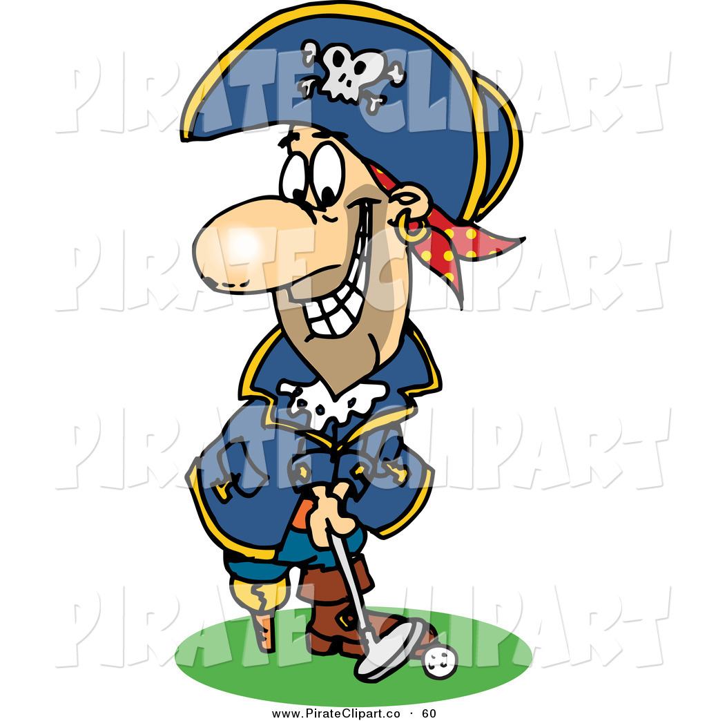 1024x1044 Vector Clip Art Of A Pirate Guy Mini Golfing By Dennis Holmes