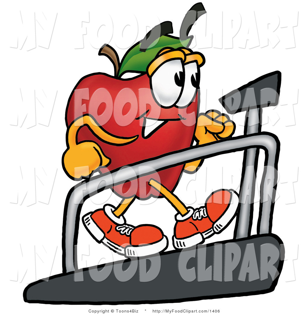 1024x1044 Food Cliprt Of Sporty Redpple Character Mascot Walking On