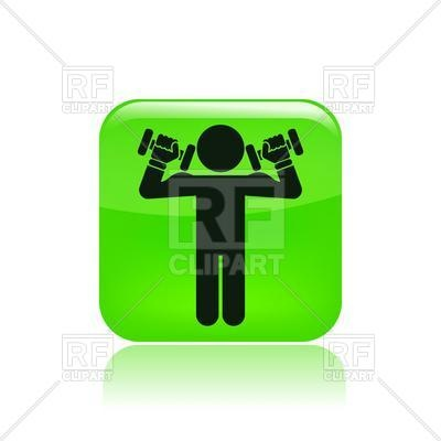 400x400 Man With Dumbbells In Gym