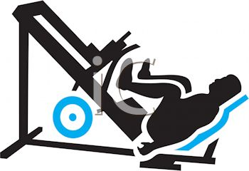 350x240 Royalty Free Clipart Image Silhouette Of A Man Doing Leg Presses