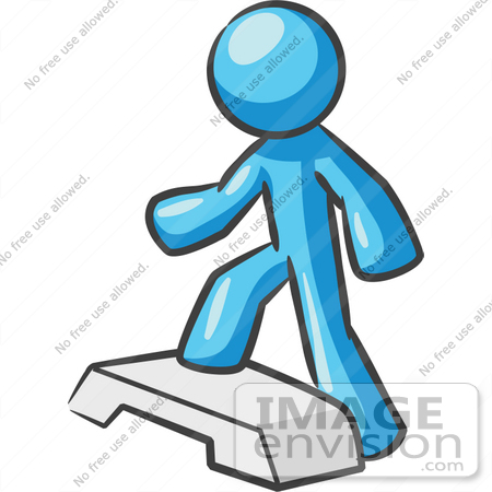 450x450 Clip Art Graphic Of A Sky Blue Guy Character Stepping