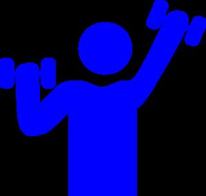 299x285 Blue Gym Clip Art