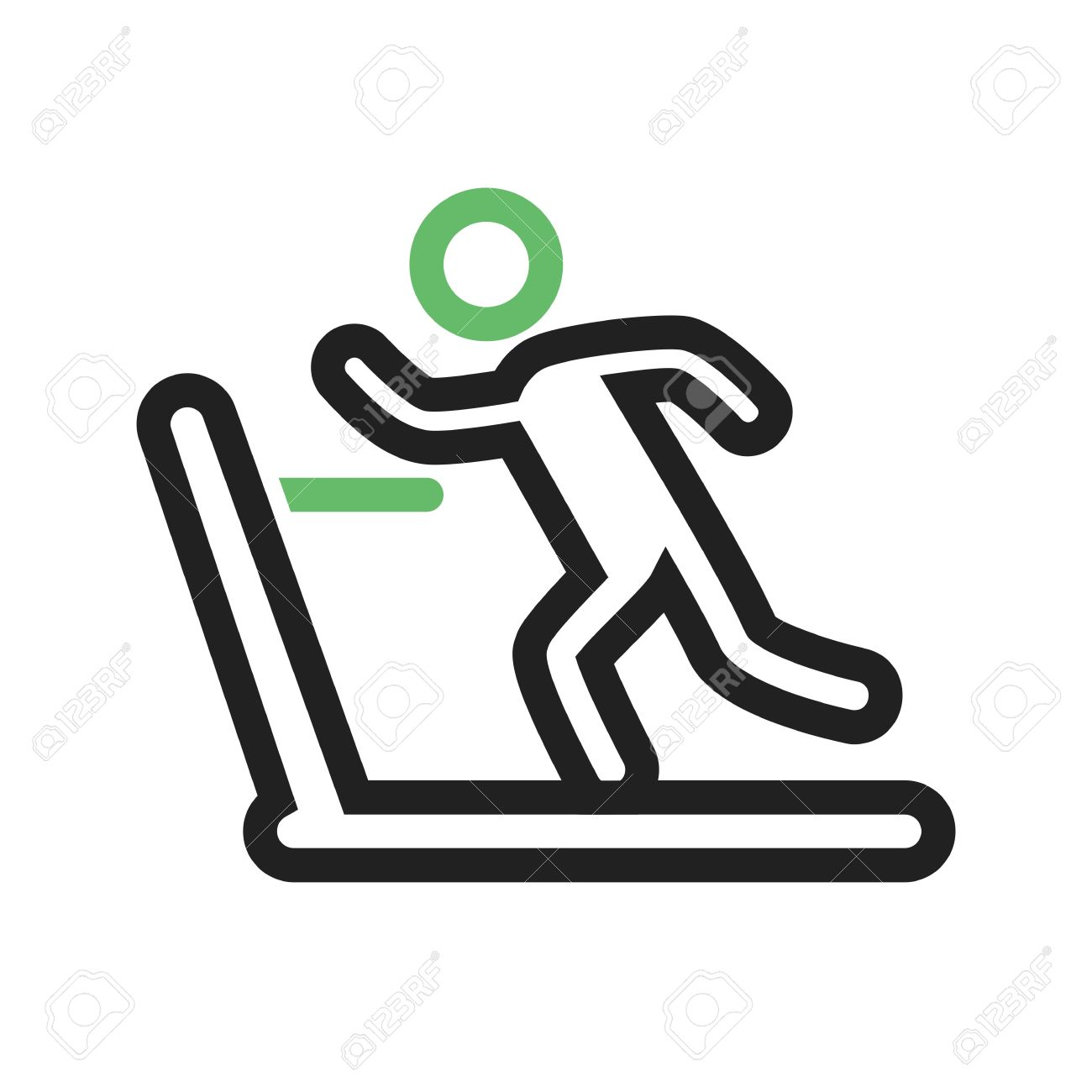 1300x1300 Running, Treadmill, Exercise, Gym Icon Vector Image. Can Also