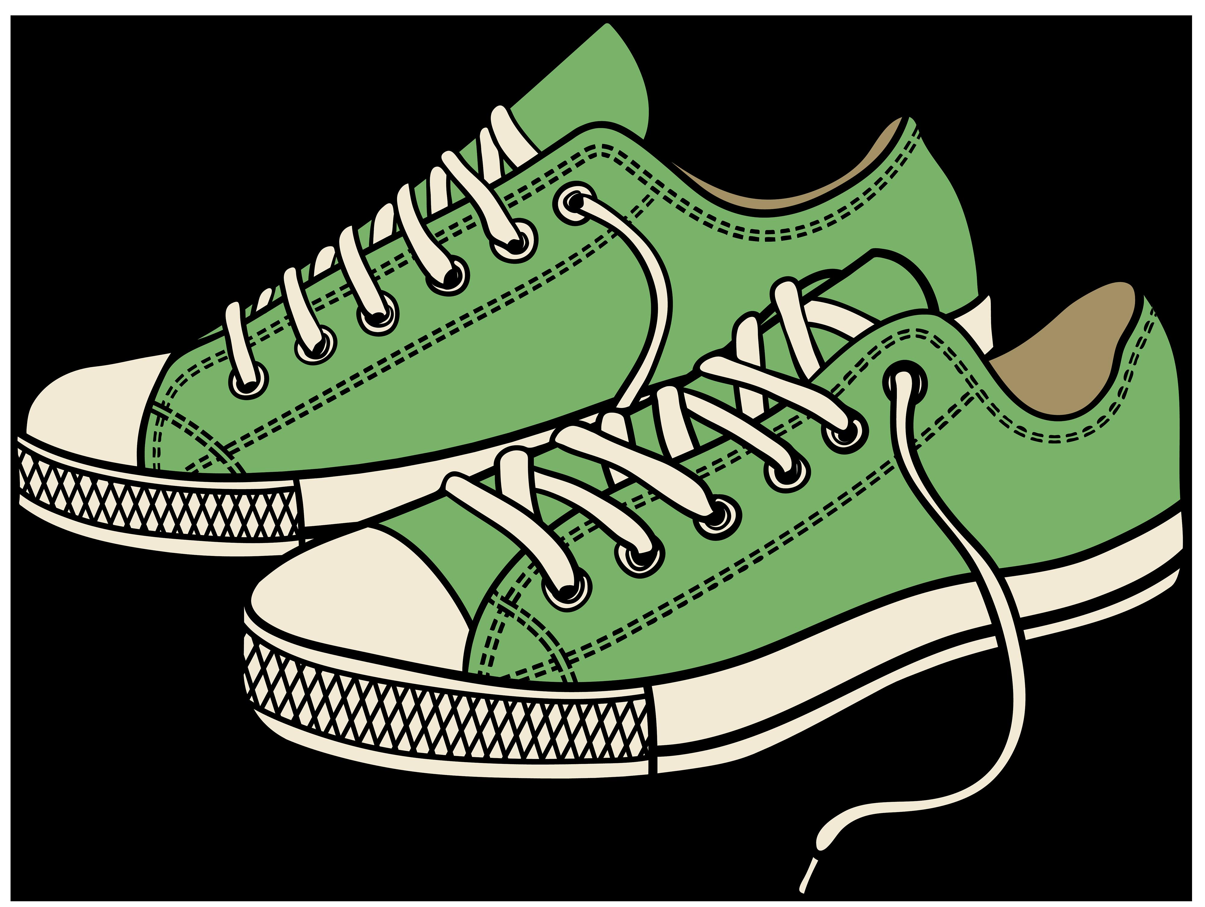 4000x3010 Sneaker Shoe Outline Clip Art Free Clipartfest