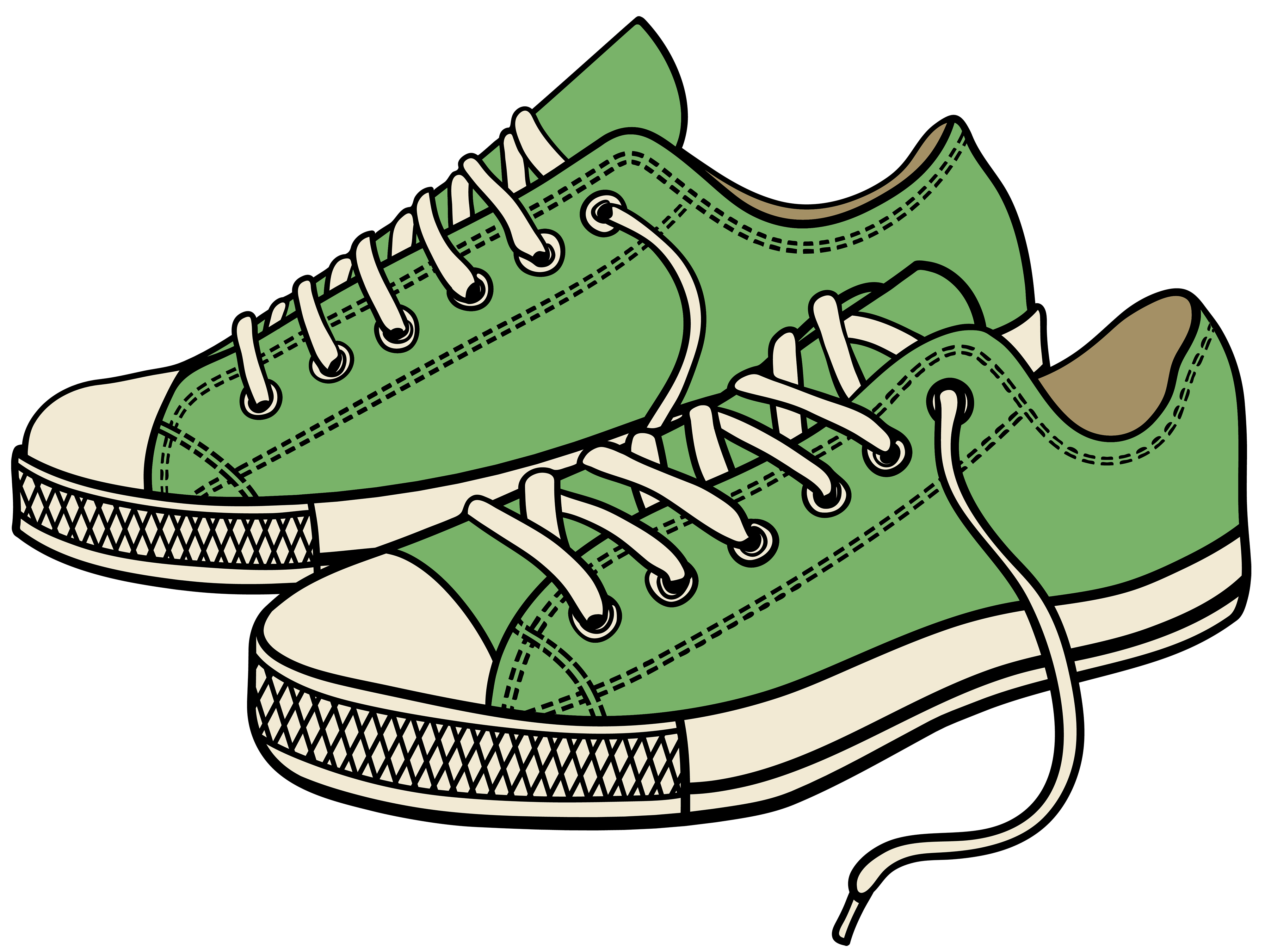 4000x3010 Green Clipart Running Shoe