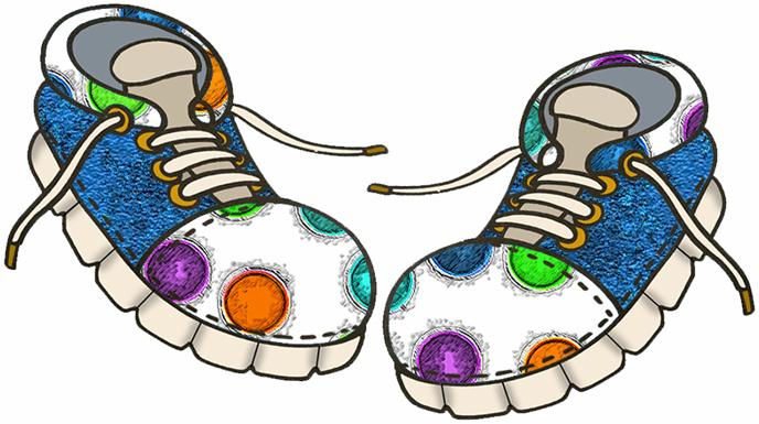 688x385 Sneakers Clipart Kid Shoe