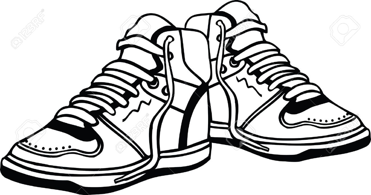 1300x685 Sport Shoes Illustration Royalty Free Cliparts, Vectors, And Stock