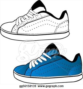 344x370 Sport Shoes Clipart