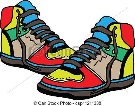 450x354 Sports Shoes Clipart