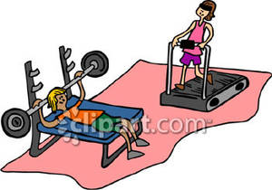 300x210 In The Gym Clipart Free