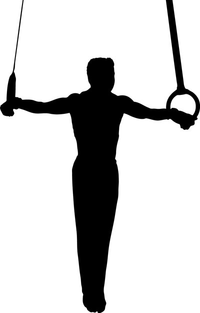 400x627 Gymnast Silhouette Clip Art