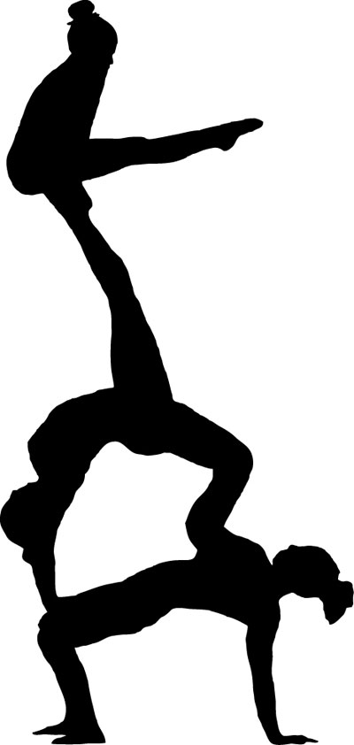 400x842 Gymnast Clipart Acrobatics