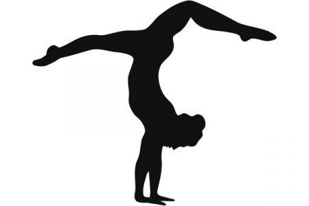 450x300 Gymnast Clipart Silhouette