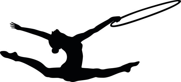 612x280 Gymnast Clipart Vector