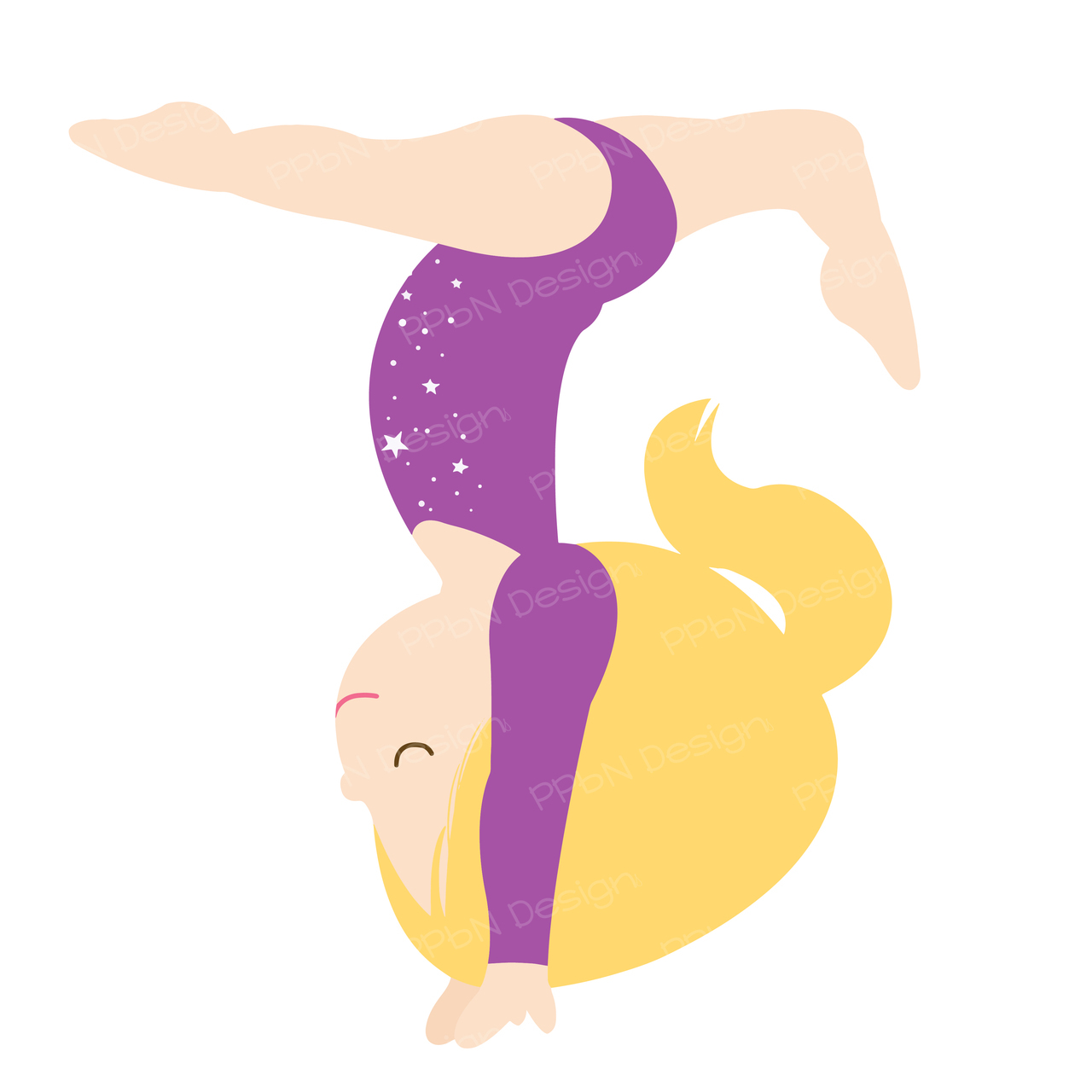 1280x1280 Little Girl Clipart Gymnast