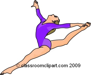350x289 Gymnast Clip Art