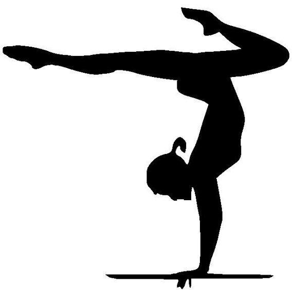570x565 Gymnast Clipart Chadholtz