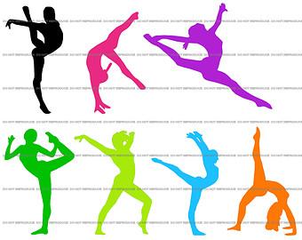 340x270 Gymnast Clipart
