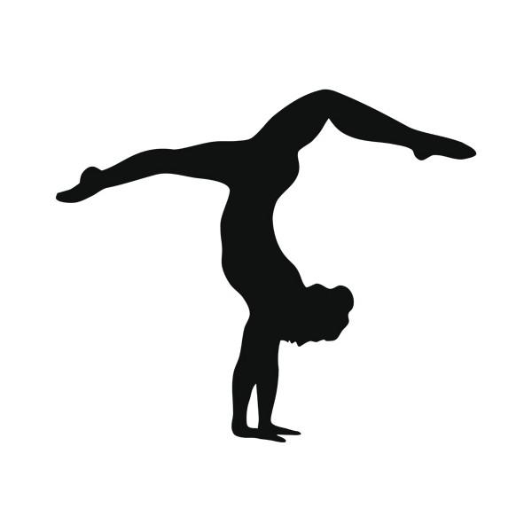 600x600 Gymnast Clipart Handstand