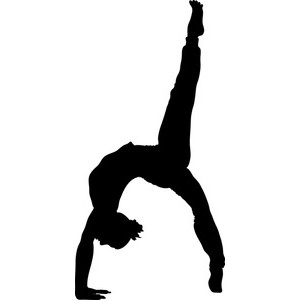 300x300 Gymnastics Clipart Black And White Clipart Free Clipart