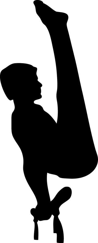 400x986 Gymnastics Clipart Male Gymnast